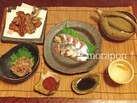 140924 トロ秋刀魚の刺身-1