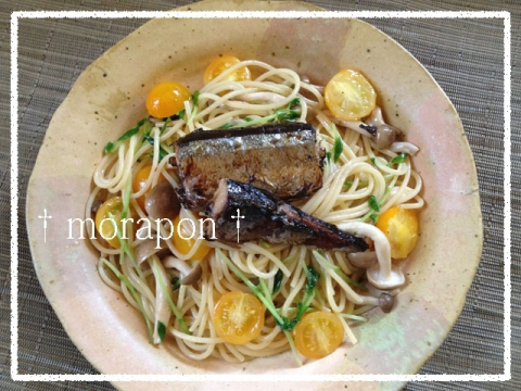 140930 秋刀魚コンフィのパスタ