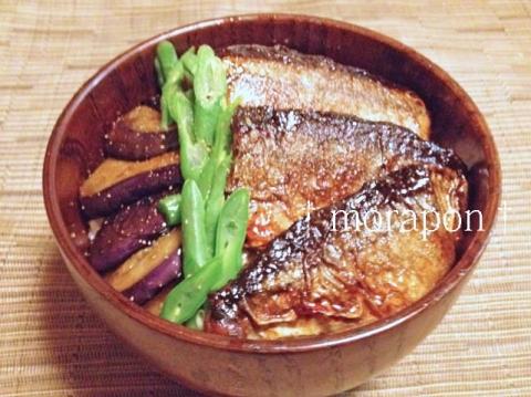 141025 秋刀魚の蒲焼き丼
