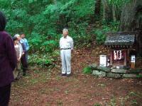 祠の横で、北越製紙さんのご挨拶