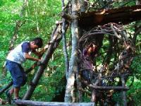 森のひみつ基地
