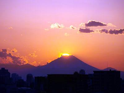 富士山落日