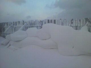 自然の雪の彫刻