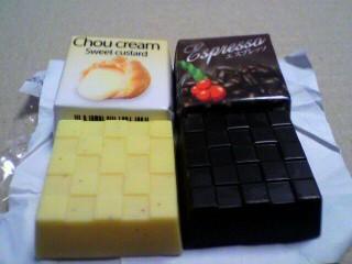 チロルチョコ「シュークリーム&エスプレッソ」