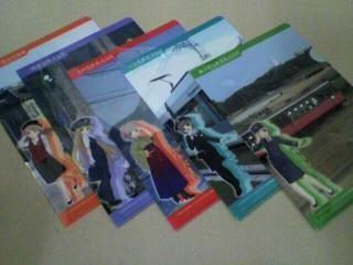 サークルKサンクス×グリコ「ご当地フェア with 鉄道むすめ」オリジナルクリアファイル