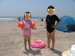 今日のカピ姉妹IN THE SEA