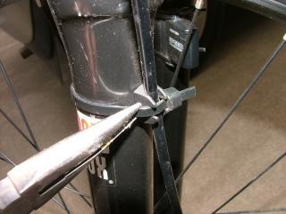 ブレーキケーブルの修正作業・2