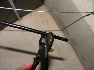 ブレーキケーブルの修正作業・8