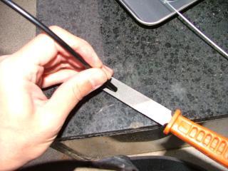 ブレーキケーブルの修正作業・9