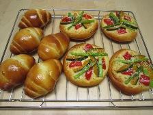 バターロール&野菜