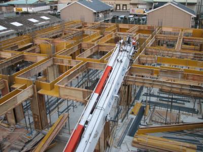 1階型枠施工①