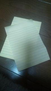 メモ帳は小さいものより大きい物のほうがいい。大きな字でたくさん書き込めるから。