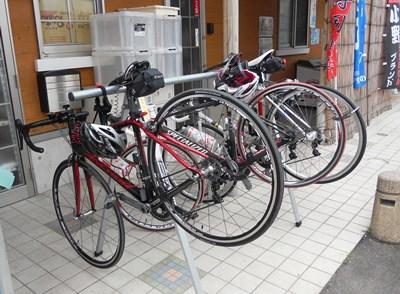 自転車の集合写真