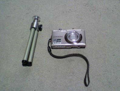 カメラとミニ三脚