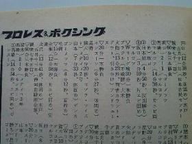 1969年のプロレス&ボクシング3