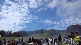 晴天でした。