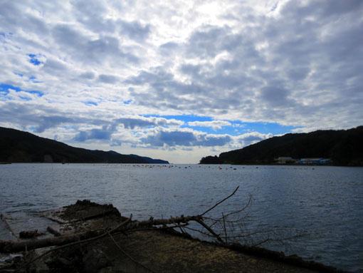 石巻市雄勝町 雄勝湾の風景1 (2013年9月,遠藤夕幻・撮影)