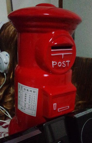 郵便ポスト貯金箱