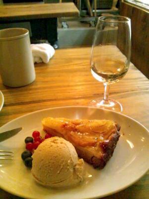 RACINES Boulangerie&Bistro タルトのアイス添え