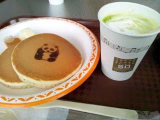 Cafe HIBIKI パンダパンケーキ+抹茶ラテ