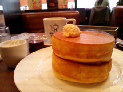 星乃珈琲店 窯焼きスフレパンケーキ