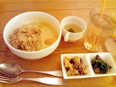 shiba cafe タイカレースープの玄米ごはんプレート