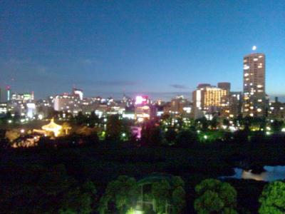 上野精養軒屋上ビアガーデン 景色