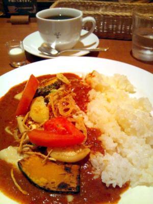 西船珈琲研究所 8種の野菜 スパイシーカレー+コーヒー