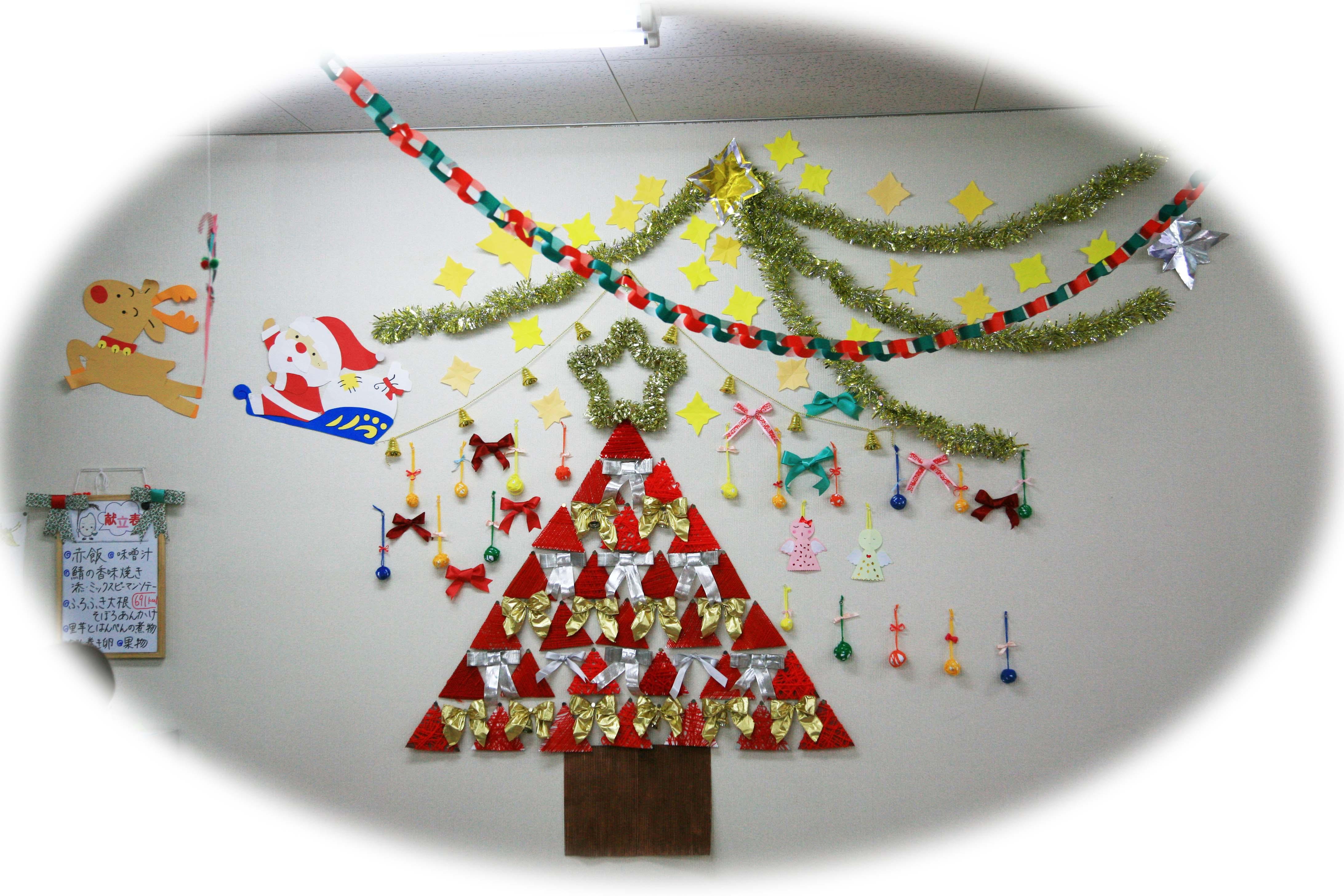 クリスマスツリーの壁飾り
