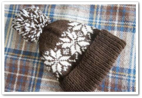 1217手編みの帽子-1