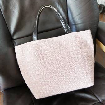 0929裂き織りのバッグ-1