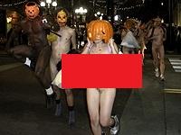 【露出DQN】本場のハロウィンパーティーがすごすぎるwwwwww