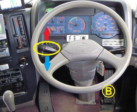 排気ブレーキ操作方法