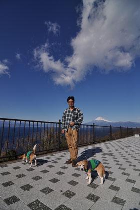 013富士山をバックに
