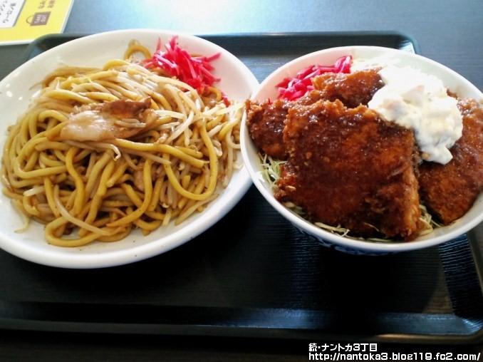 なみえ焼そば+サクサク鮭カツ丼セット