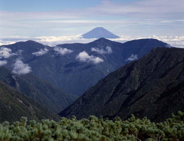 中盛丸山より富士