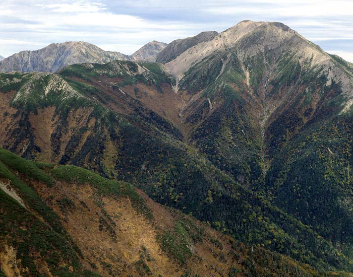 兎岳より荒川、赤石