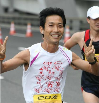 2011大阪マラソン走行中