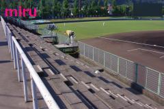 試合前の紀三井寺球場