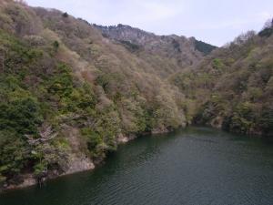 大棚沢から見た高取山 クリックで拡大