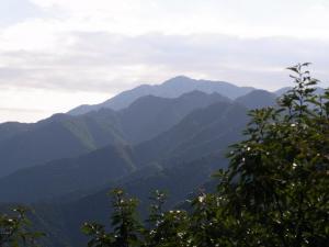 経ヶ岳山頂から クリックで拡大
