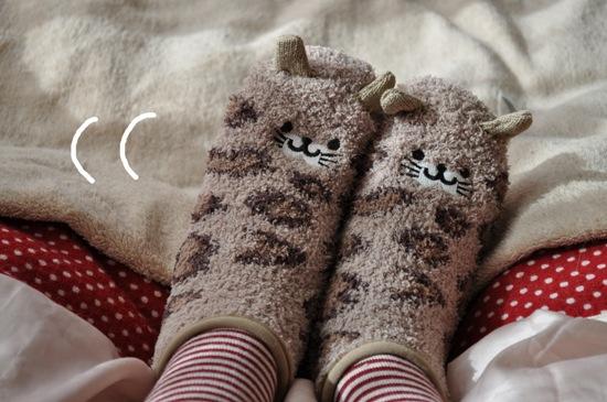 にゃんこ靴下1