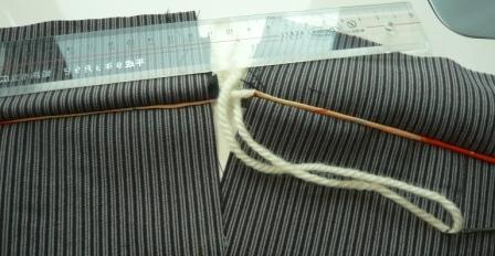 ウールのハーフコート