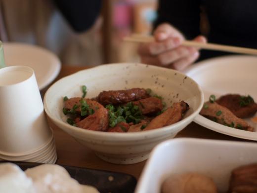 鶏肉とさつま揚げの煮物