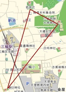 大神神社周辺地図