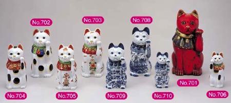 丸靖製陶所・招き猫