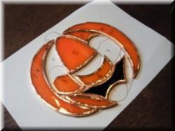 ステンドグラス・かぼちゃ1