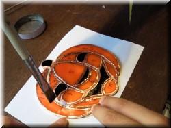 ステンドグラス・かぼちゃ2