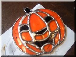 ステンドグラス・かぼちゃ4