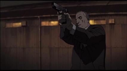 銃を撃つデイビット